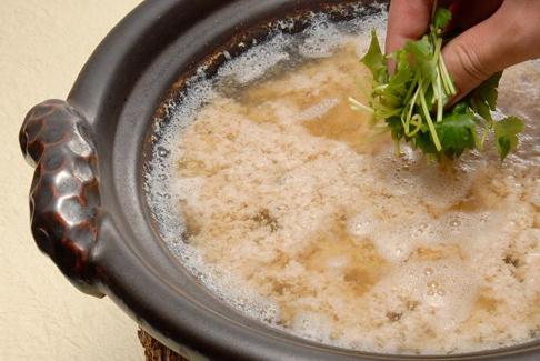 蟹のすり流し鍋