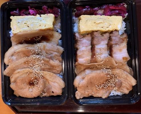 ブランド豚を使った贅沢弁当